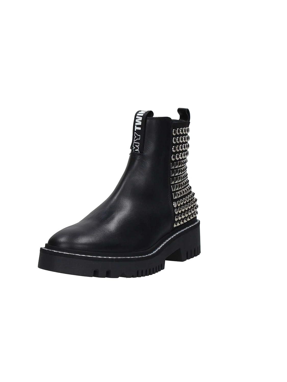 My Twin By Twin Set DA7CGA Lace ankle shoes Femme Noir Noir - Chaussures Boot Femme