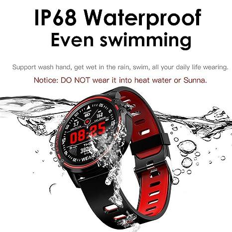 Amazon.com: L8 Smart Watch Men IP68 Waterproof Reloj Hombre ...