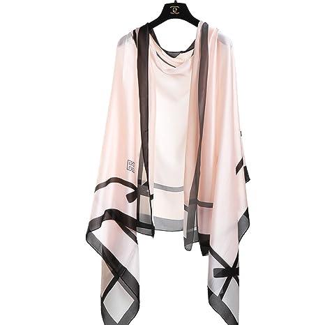 Bufanda de verano bufanda femenina sección delgada salvaje bufanda multifuncional con aire acondicionado fuera del chal