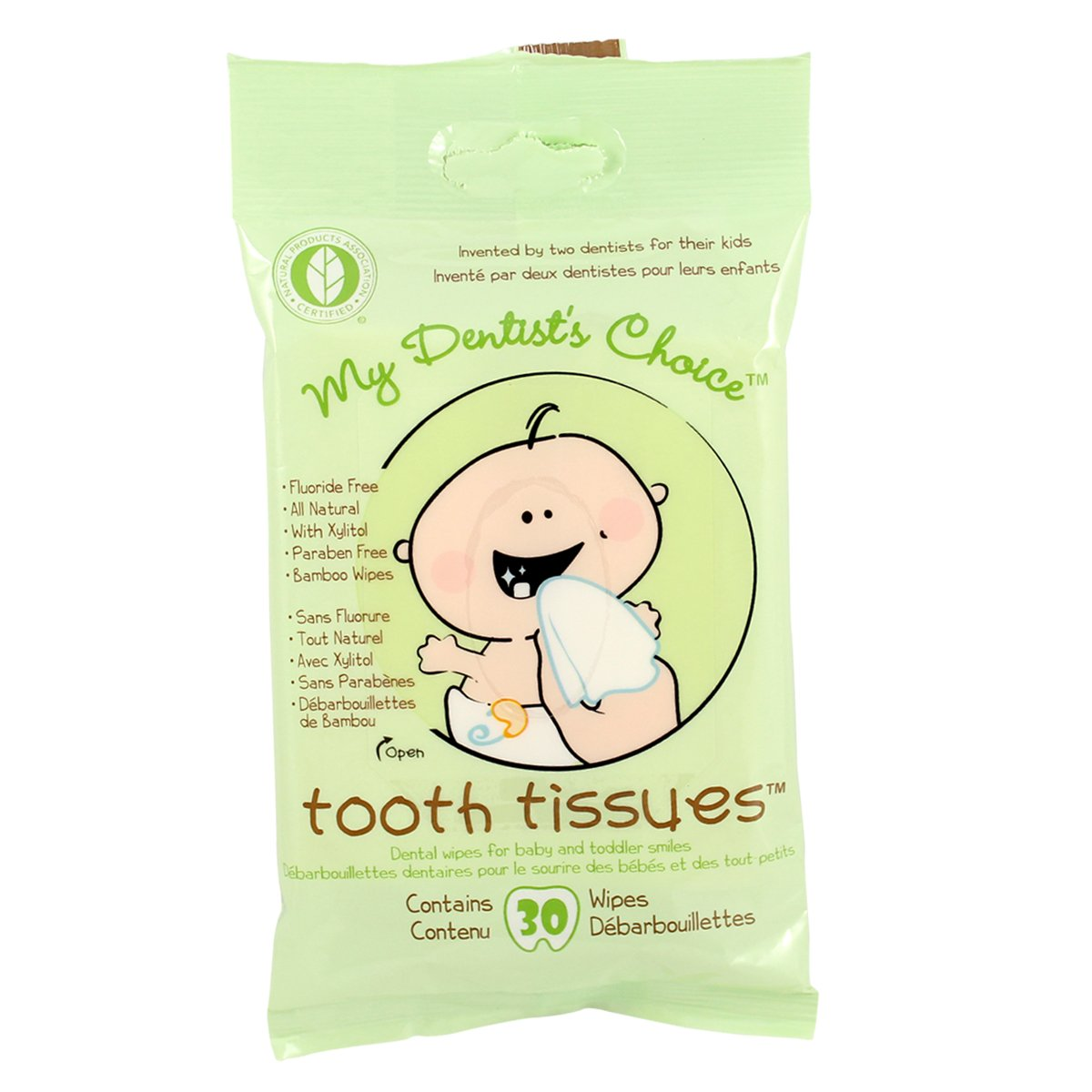 Amazon.com: My Dentist Choice Tooth Tissues, Wipes, 30 Count (Pack of 2): Beauty