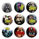 Rob Zombie Pinback Buttons Pin Badges 1 Inch (25mm) - Pack of 9