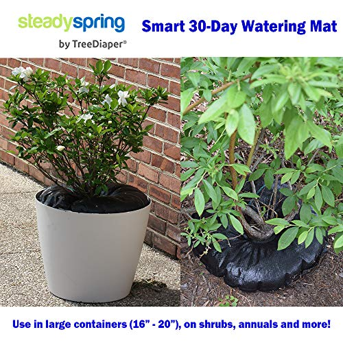 SteadySpring Smart 30-Day Watering Mat for Tomato Plants, Peppers, Veggies, Perennials, Annuals - Self-Fills with Rain (4) by Smart Spring (Image #4)