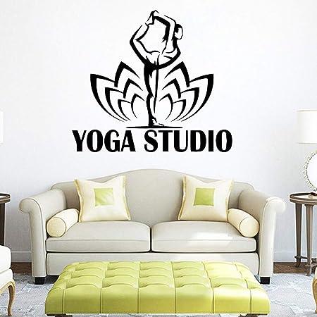 nkfrjz Moderna Carta de Yoga Extraíble PVC Pegatinas de ...