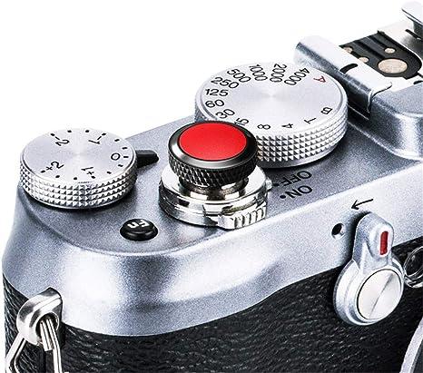 Deluxe Soft Shutter Release Button Black Red for Fujifilm X-T2 E2 E3 X100F X100T