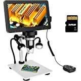 ANNLOV 7 inch LCD Digital Microscope with 32GB TF Card 50-1200X Maginfication 1080P Video Microscope with Wired Remote for Ci