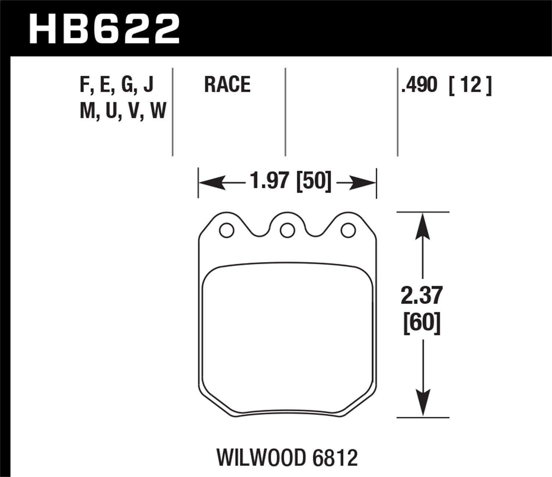 Hawk Performance HB622F.490 HPS Performance Ceramic Brake Pad
