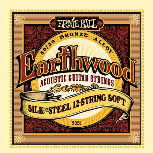 Ernie Ball Earthwood Silk and Steel 12-String Soft Acoustic Set, .009 - -