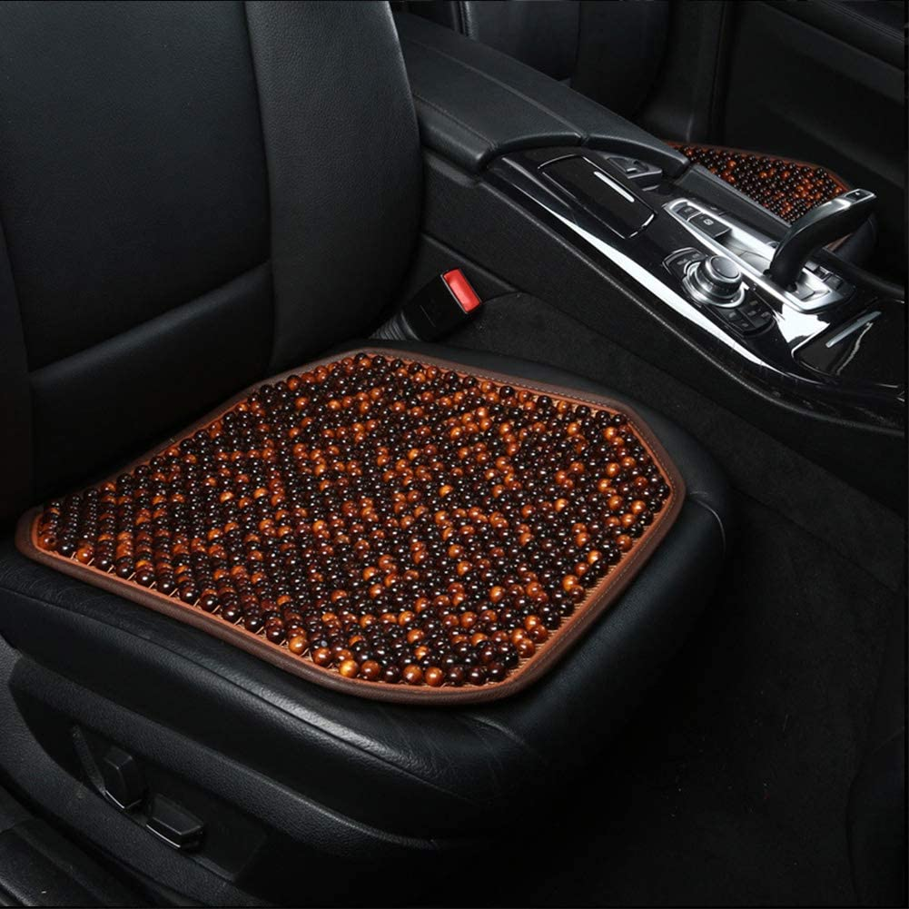 S-02 Dr.OX Natural Wood Beaded Seat Cover Massaging Cushion for Car Truck or Your Office Chair
