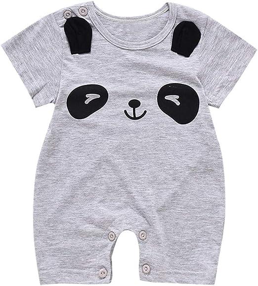 4Clovers Summer Infant Baby Romper Short Sleeve Watermelon Pajamas Cartoon Zipper Jumpsuit