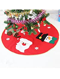 asoon christmas tree skirt with santasnowman and reindeer42 inches tree skirts for - Christmas Tree Skirts