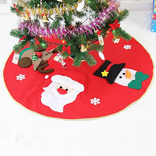 Amerzam Christmas Tree Skirt Mat for Christmas Holiday Party Decoration