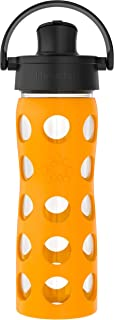 product image for Lifefactory 16-Oz Glass Active Flip Cap/Silicone Sleeve Water Bottle, 16 Ounce, Marigold