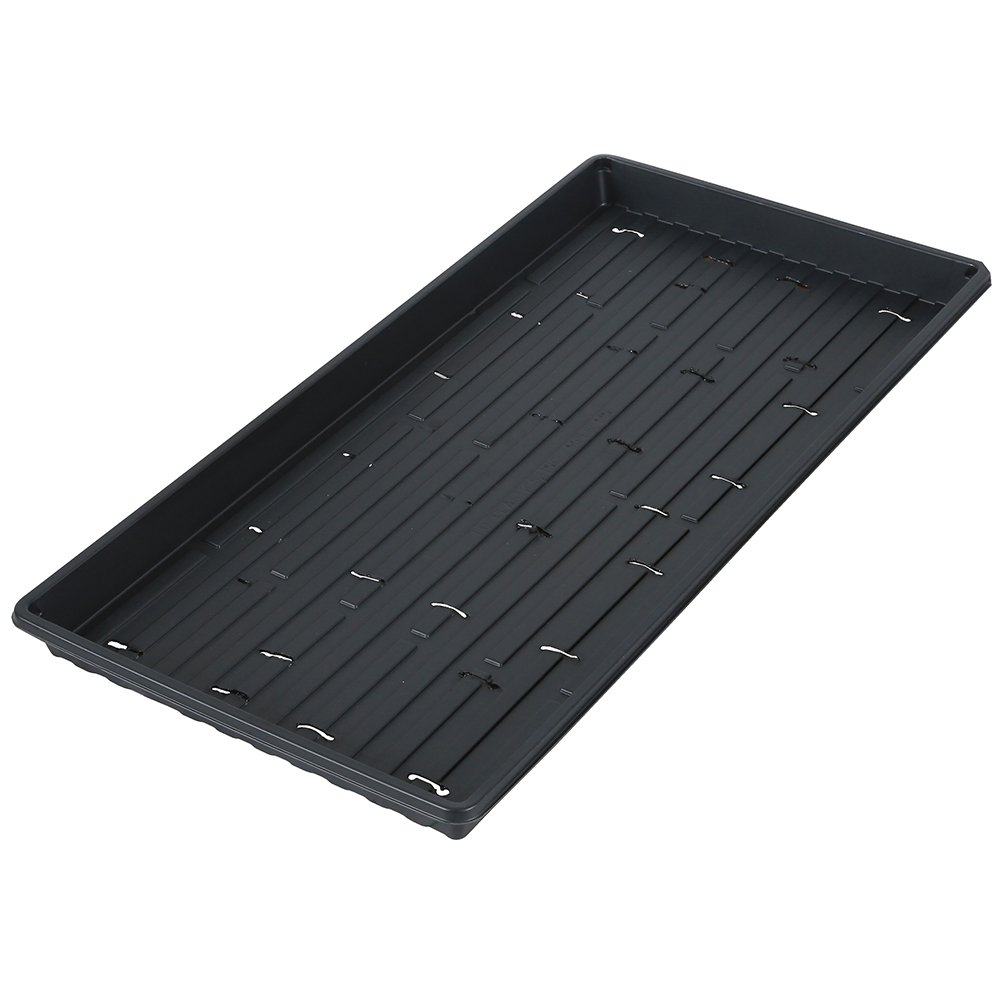 MICROGREEN Trays with Holes - Shallow Trays for Microgreens (50) by PowerGrow Systems
