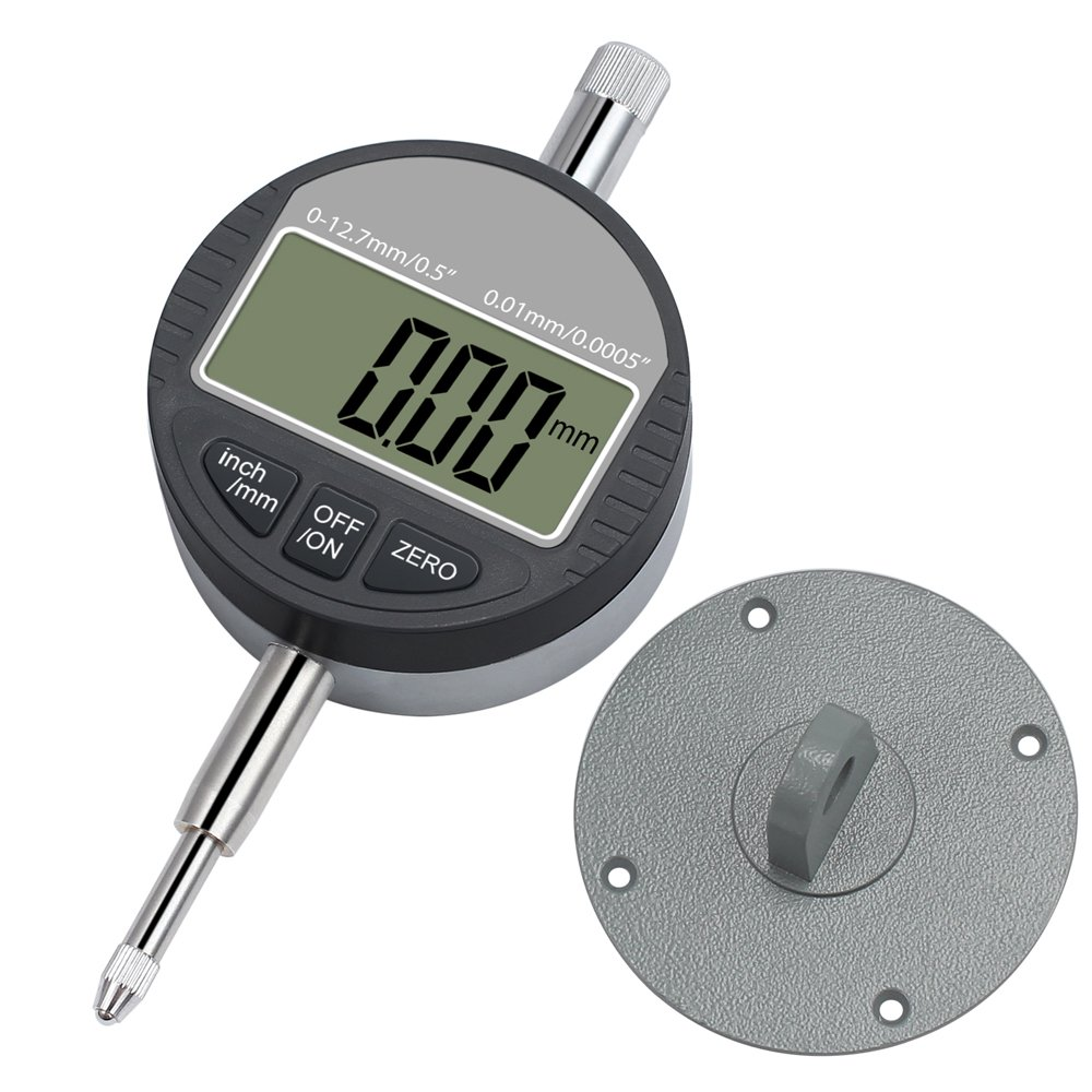 Tanice DTI Digital Dial Indicator 0.01mm/0.0005'' Digital Probe Indicator Dial Test Gauge Range 0-12.7mm/0-0.5'' High-Precision Measurement Industrial Indicators