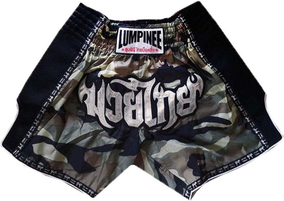 Pantalones cortos de boxeo para hombre LUMPINEE CAMO RETRO CAMUFLAGE Army MUAY THAI