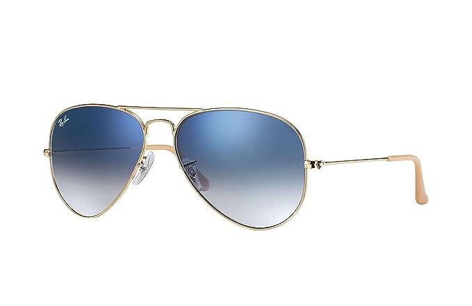 6b83628b90 Gafas de Sol Ray-Ban Aviador Gradiente, RB3025 (Oro Azul claro gradiente,