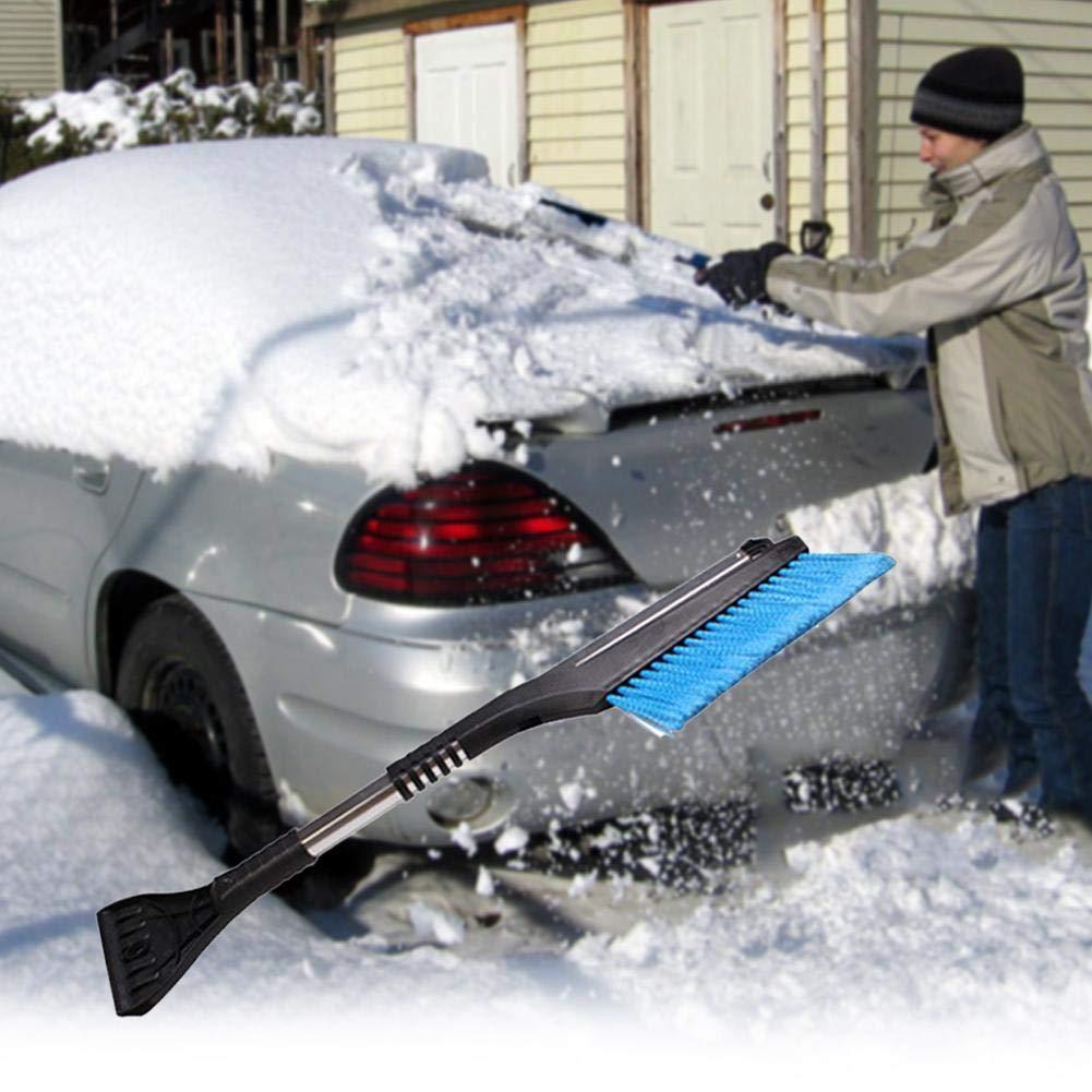 Snow Brushes,Sundlight Long Handle Telescopic 2 in 1 Car Snow Shovel Aluminum Alloy Ice Scraper Brush Clean Tools