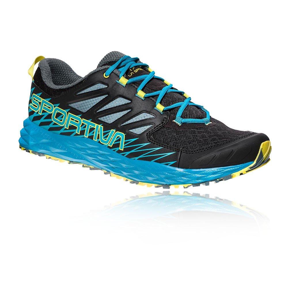 La Sportiva Lycan, Zapatillas de Trail Running para Hombre 45.5 EU|Multicolor (Black/Tropical Blue 000)