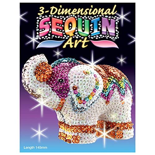 Sequin Art 3d Elephant Sparkling Arts And Crafts 3d Art Kit
