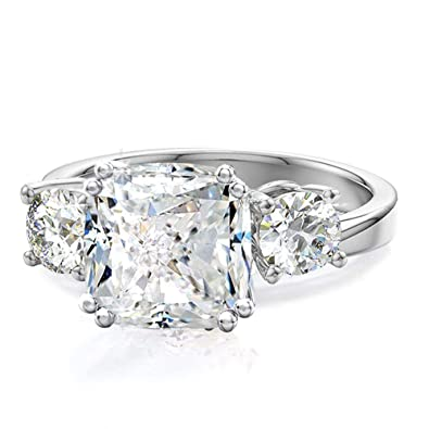 Samie Collection Meghan Markle Engagement Rings Inspired by Royal Wedding   3.67ctw 3 Stone Cubic 4c951680d2c4