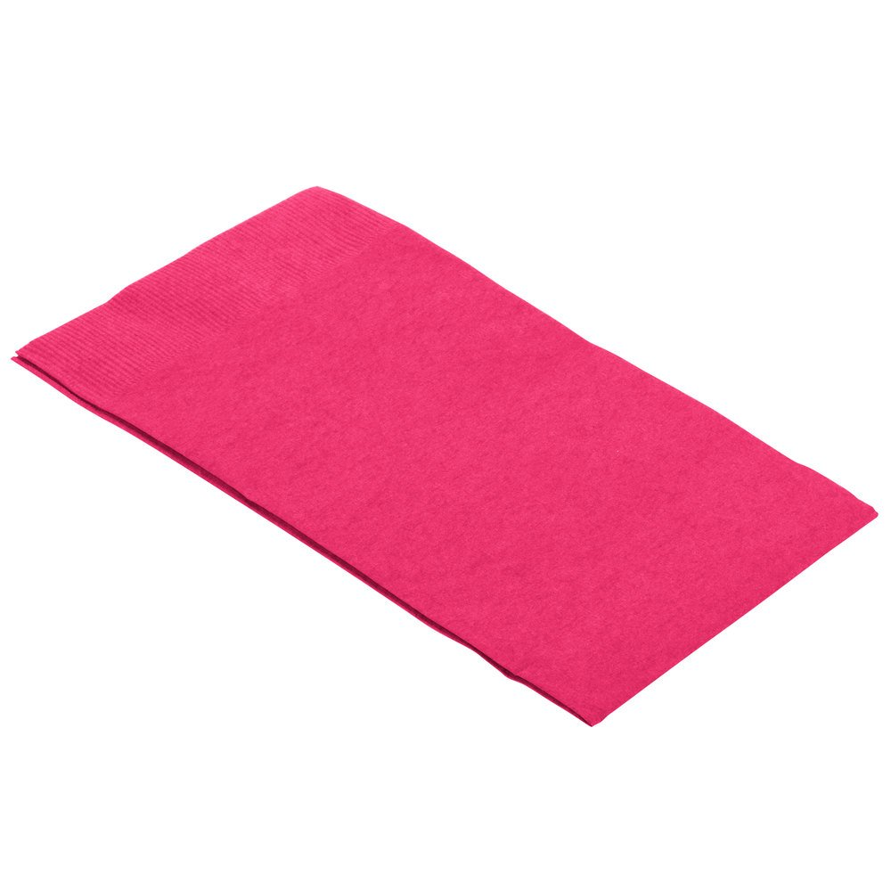Disposable 3-Ply Party Guest Towels Tableware, Magenta, Paper , 4'' x 7'', Pack of 16 by Amscan