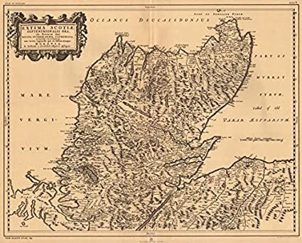 Extima Scotiae Septentrionalis Ora' Scottish Highlands BLAEU 1654