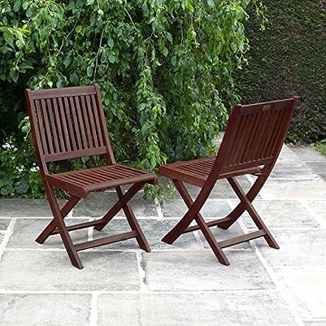 Marvelous Billyoh Hampton Folding Pack Of 2 Garden Chairs Amazon Co Ncnpc Chair Design For Home Ncnpcorg