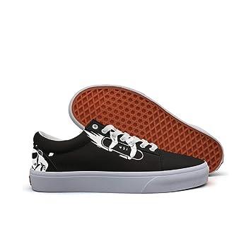womens Skateboarding Shoes Canvas astronaut skateboarder Sport Sneaker