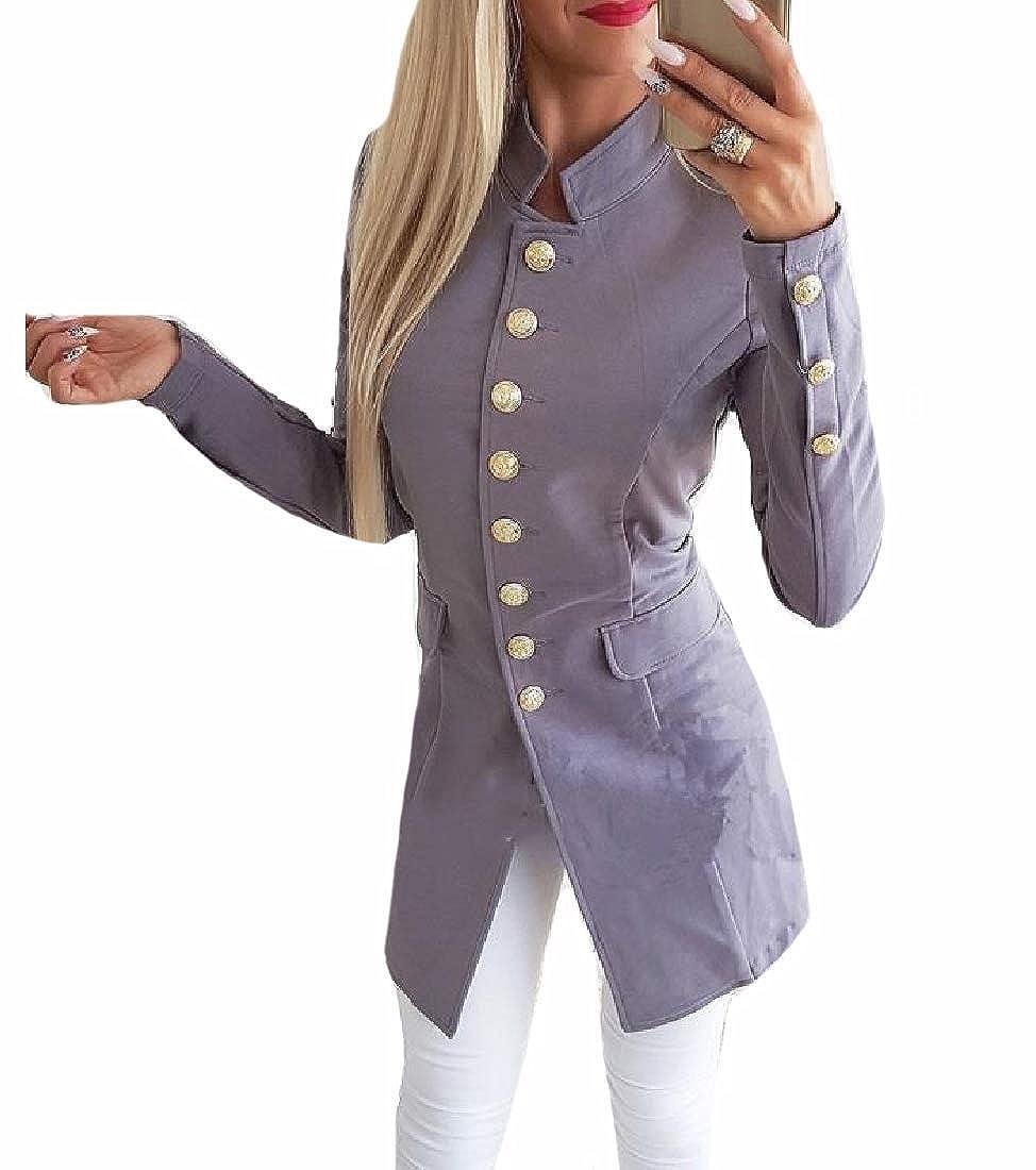 Andopa Women Coat Jacket Short Blazer Slim Fitting Long Sleeve Jackets