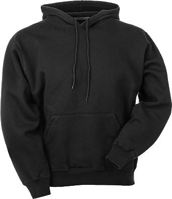 179fe86da1ac JustSweatshirts Unisex Pullover 100% Cotton Hooded Sweatshirt Black Small