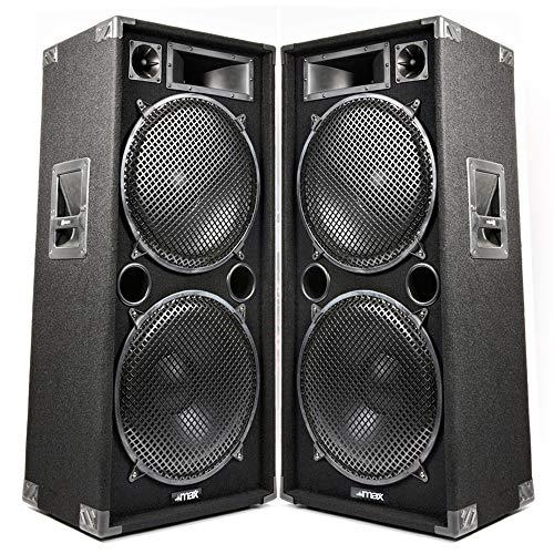 Max 28 Dual 8 inch Passive DJ PA Home Party Karaoke Disco Speaker 800W