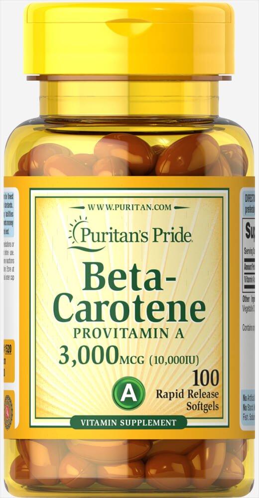 Puritan's Pride Beta-Carotene 10,000 IU-100 Softgels