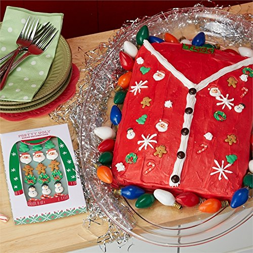 Two's Company Pretty Ugly Sweater 18 Pc Sugar Decorations in Gift Box