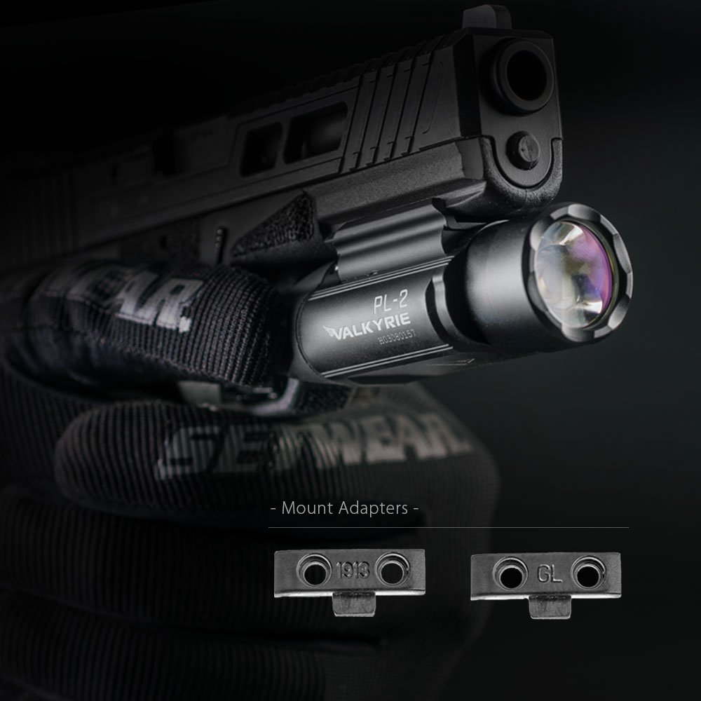OLIGHT PL-2 PL2 Valkyrie 1200 Lumens Pistol Light//Weapon Light with 2 X CR123A Lithium Batteies Bundle Battery Case
