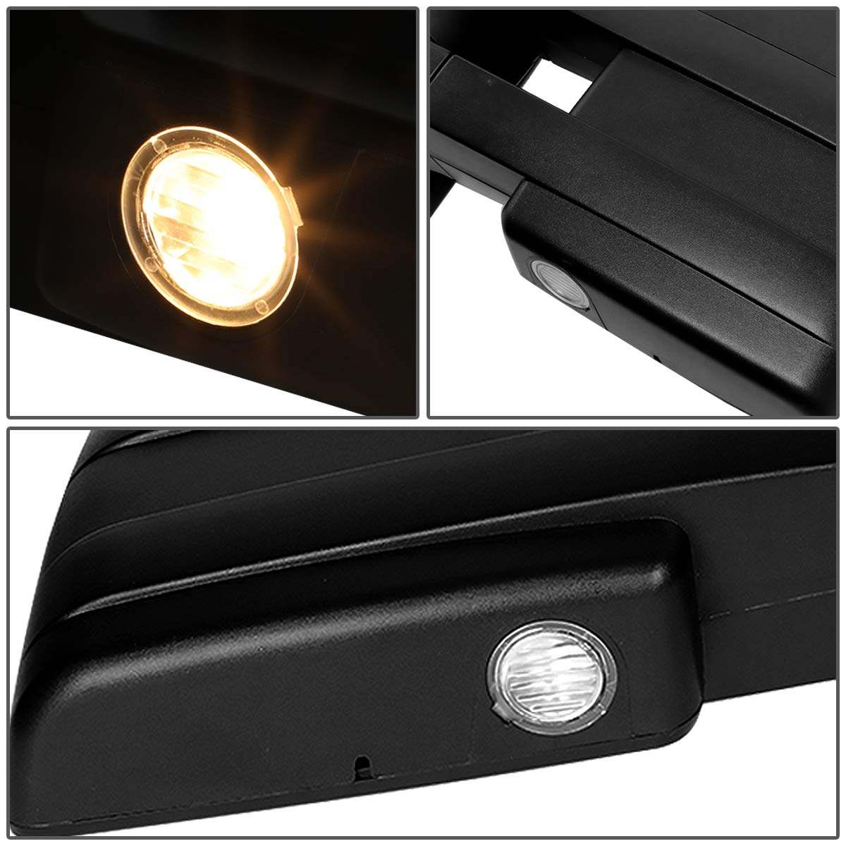 For 04-14 Ford F150 Powered Right//Passenger Side Heated LED Turn Signal//Puddle Light Towing Mirror