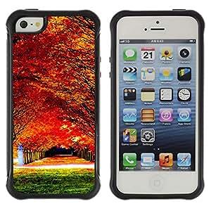 Pulsar Defender Series Tpu silicona Carcasa Funda Case para Apple iPhone 5 / iPhone 5S , Nature Beautiful Forrest Green 78