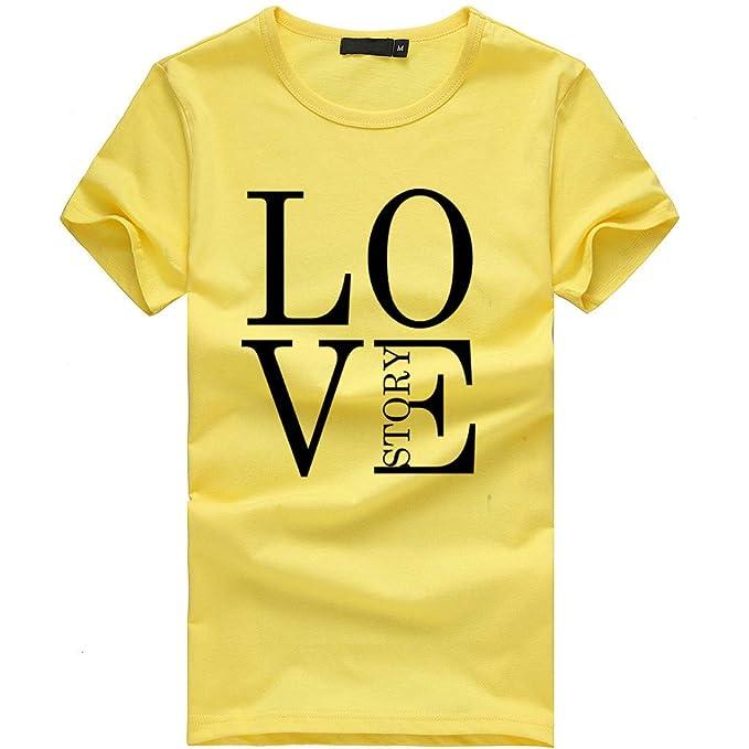 BOBOLover Camiseta para Mujer Manga Corta Camisetas Originales Camisetas con Letra Impreso Ropa de Mujer Blusa Elegante Top Fiesta Mujer T-Shirt: Amazon.es: ...