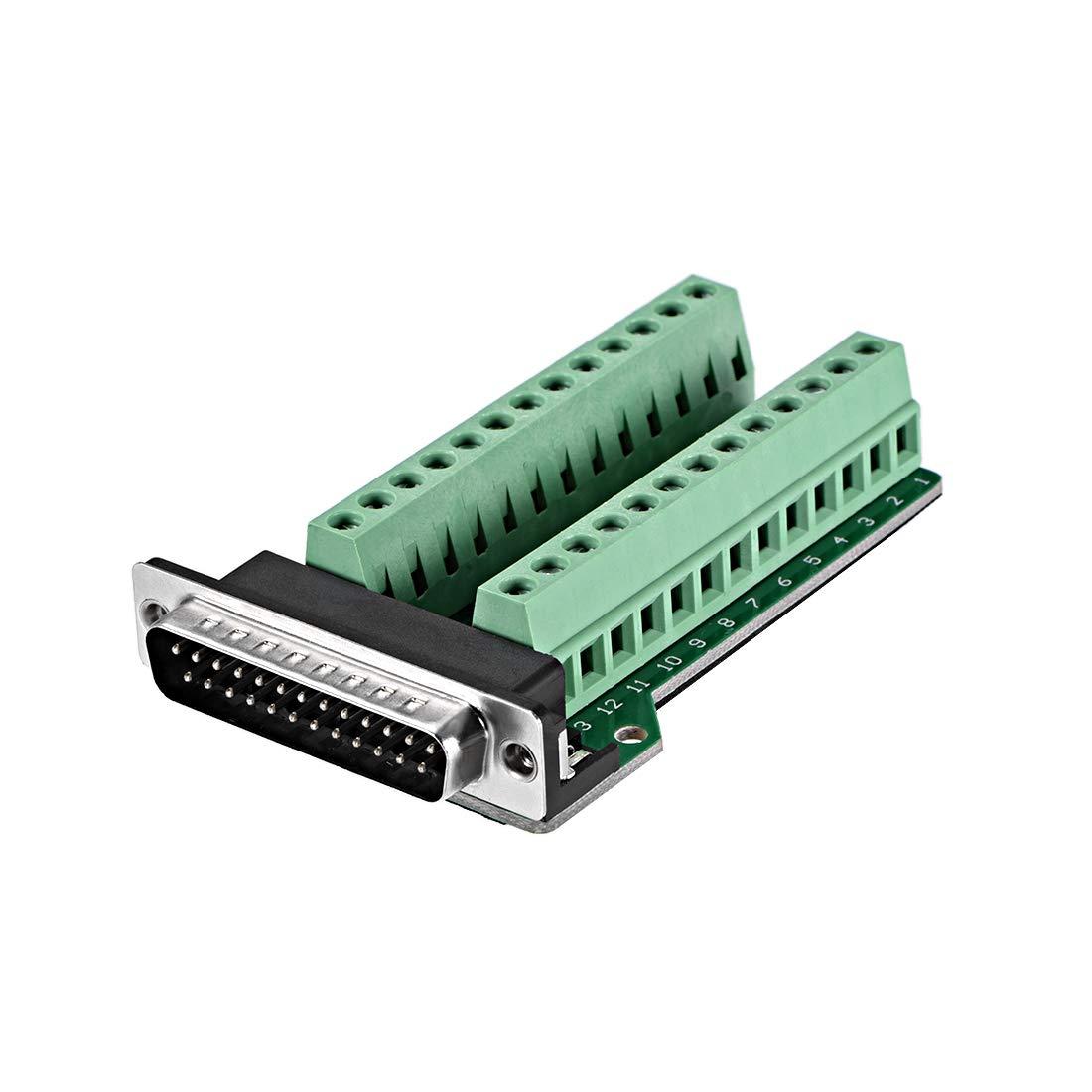 l/ötfreier Terminalblock-Adapter mit Positionierungsmuttern 2-reihiger Stecker 9-polig Sourcing Map D-sub DB9 Breakout-Board-Stecker