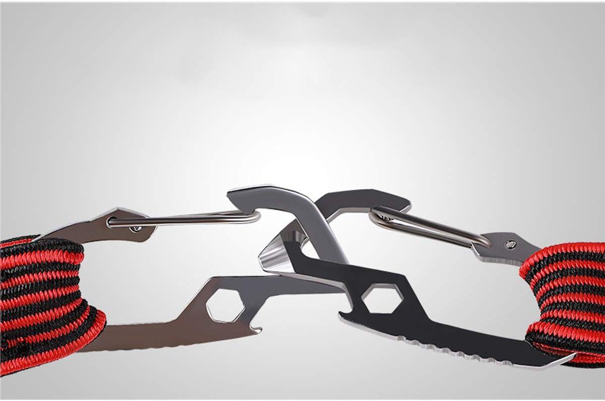 clip altamente elastica carro e campeggio rosso corda elastica lunga con ganci di sicurezza in acciaio al carbonio ideale per carrelli a mano Runaup