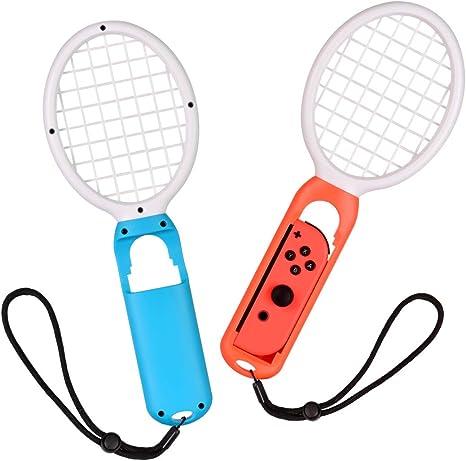 Raqueta de Tenis Joy Con para Nintendo Switch, Accesorios para Mario Tennis Aces Games(2 PACK, Rojo y Azul): Amazon.es: Videojuegos