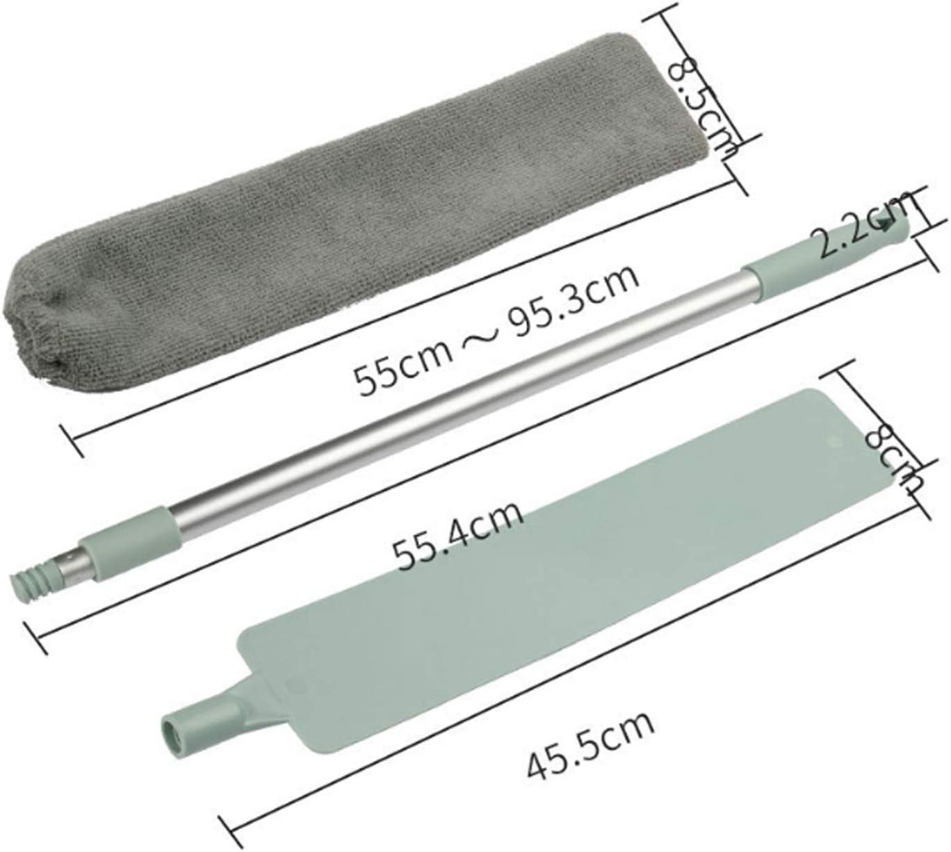 A HHKX100822 Manico Lungo Pieghevole Non Tessuto Spolverino Retrattile Non Pelucchi Pulizia Strumento Sanitario Antistatico per Uso Domestico
