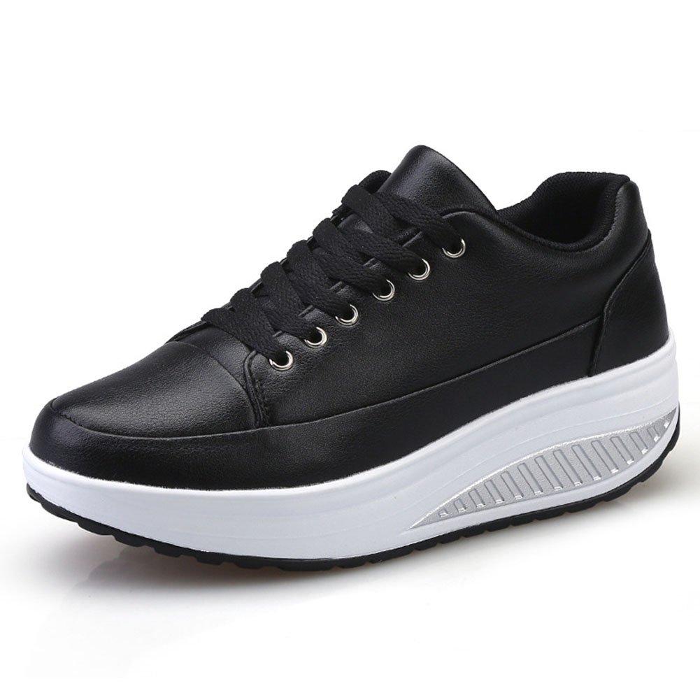 Zapatos Casuales de Las Mujeres, Zapatos de la Sacudida de la Aptitud Primavera, Verano y Caída Zapatos Corrientes de la Marcha del Deporte Zapatos (Color : Negro, Tamaño : 39) 39|Negro