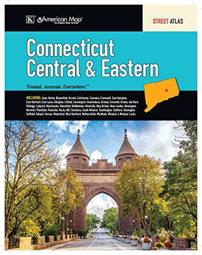 Map Connecticut - Connecticut State Central & Eastern Regional Road Atlas