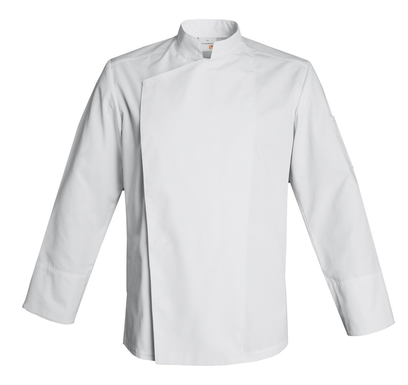 FIRENZE Long Sleeve Culinary Chef Jacket with Mandarin Collar by Clement Design (L - 40/42 - T2, White) by Clement Design USA