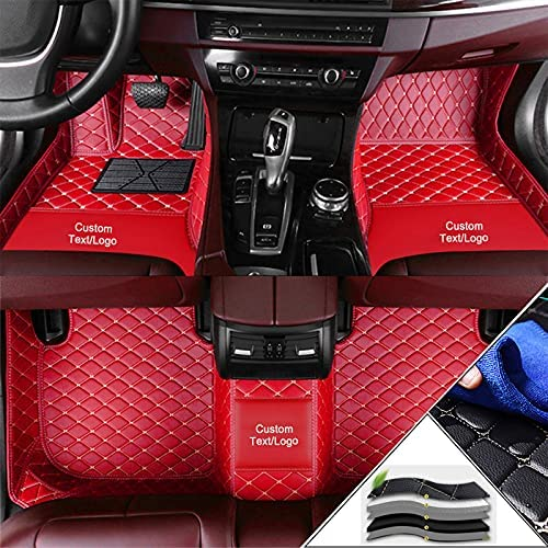 Aoyade Custom Car Floor Mats Customizable 95% car Model All Weather Waterproof Non-Slip Full Covered Protection Performance Liners Car Liner Red