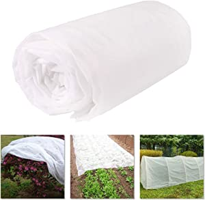 YBB Plant Covers Blanket Freeze Protection, 1oz Garden Floating Row Cover Fabric Blankets for Cold Winter Frost Protection (6.6 x 16.4 Ft)