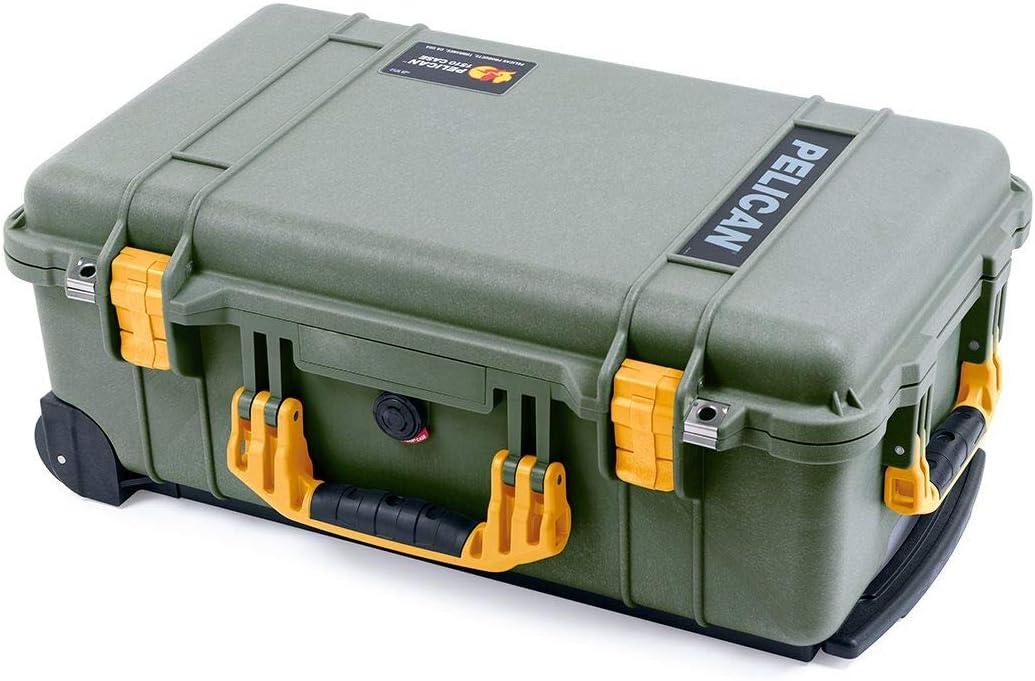 OD Green /& Yellow Pelican 1510 Case with Foam.
