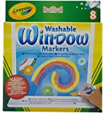 CRAYOLA 8 WASHABLE WINDOW MARKERS CY588165