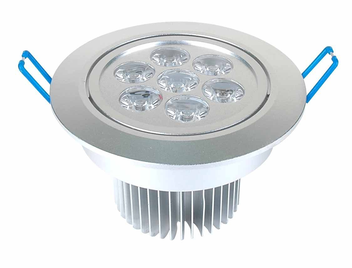 Dimmable 7W Recessed LED Lighting Fixture, Recessed Downlight, Cool White