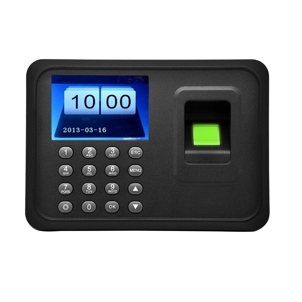 docooler 2.4'' TFT LCD Display USB Biometric Fingerprint Attendance Machine DC 5V/1A Time Clock Recorder Employee Checking-in Reader A6